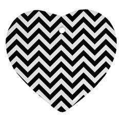 Wave Background Fashion Ornament (heart)