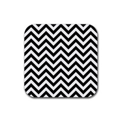 Wave Background Fashion Rubber Coaster (square)  by Nexatart