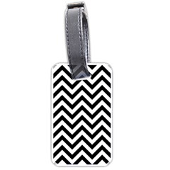 Wave Background Fashion Luggage Tags (one Side)  by Nexatart