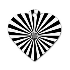 Rays Stripes Ray Laser Background Dog Tag Heart (one Side)