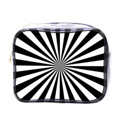 Rays Stripes Ray Laser Background Mini Toiletries Bags by Nexatart