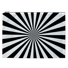 Rays Stripes Ray Laser Background Cosmetic Bag (xxl)