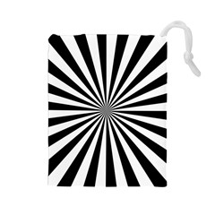 Rays Stripes Ray Laser Background Drawstring Pouches (large)