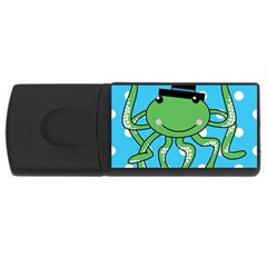 Octopus Sea Animal Ocean Marine Rectangular Usb Flash Drive by Nexatart