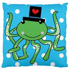 Octopus Sea Animal Ocean Marine Large Cushion Case (two Sides)