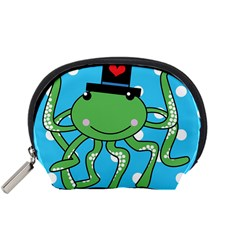 Octopus Sea Animal Ocean Marine Accessory Pouches (small)  by Nexatart