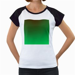 Course Colorful Pattern Abstract Green Women s Cap Sleeve T