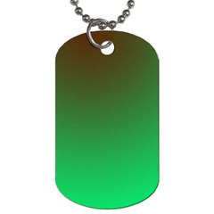 Course Colorful Pattern Abstract Green Dog Tag (one Side)
