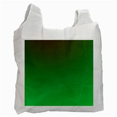 Course Colorful Pattern Abstract Green Recycle Bag (one Side)