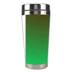 Course Colorful Pattern Abstract Green Stainless Steel Travel Tumblers by Nexatart