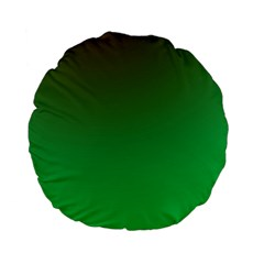 Course Colorful Pattern Abstract Green Standard 15  Premium Flano Round Cushions