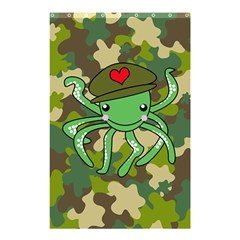 Octopus Army Ocean Marine Sea Shower Curtain 48  X 72  (small)