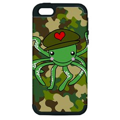 Octopus Army Ocean Marine Sea Apple Iphone 5 Hardshell Case (pc+silicone) by Nexatart