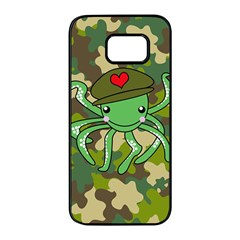 Octopus Army Ocean Marine Sea Samsung Galaxy S7 Edge Black Seamless Case by Nexatart