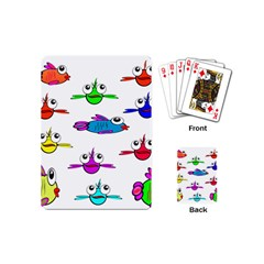 Fish Swim Cartoon Funny Cute Playing Cards (mini)  by Nexatart
