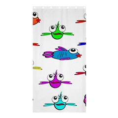 Fish Swim Cartoon Funny Cute Shower Curtain 36  X 72  (stall)