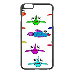 Fish Swim Cartoon Funny Cute Apple Iphone 6 Plus/6s Plus Black Enamel Case by Nexatart