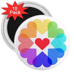 Heart Love Romance Romantic 3  Magnets (10 Pack)