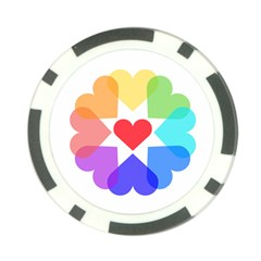 Heart Love Romance Romantic Poker Chip Card Guard
