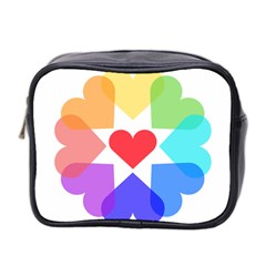 Heart Love Romance Romantic Mini Toiletries Bag 2 Side