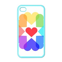 Heart Love Romance Romantic Apple Iphone 4 Case (color)