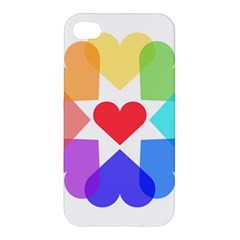 Heart Love Romance Romantic Apple Iphone 4/4s Hardshell Case by Nexatart