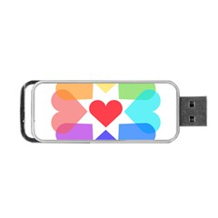 Heart Love Romance Romantic Portable Usb Flash (one Side)