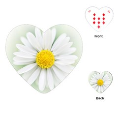 Art Daisy Flower Art Flower Deco Playing Cards (heart)  by Nexatart