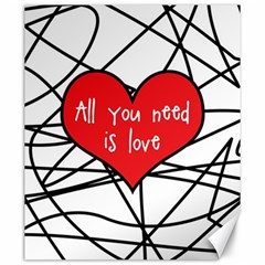 Love Abstract Heart Romance Shape Canvas 20  X 24   by Nexatart