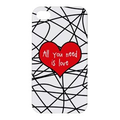 Love Abstract Heart Romance Shape Apple Iphone 4/4s Hardshell Case by Nexatart