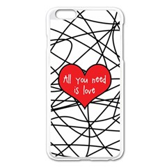 Love Abstract Heart Romance Shape Apple Iphone 6 Plus/6s Plus Enamel White Case