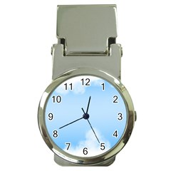 Sky Cloud Blue Texture Money Clip Watches
