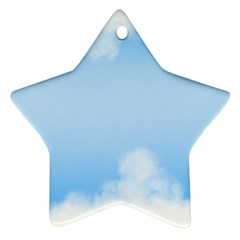 Sky Cloud Blue Texture Star Ornament (two Sides)