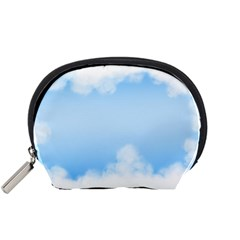 Sky Cloud Blue Texture Accessory Pouches (small)  by Nexatart