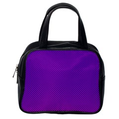 Halftone Background Pattern Purple Classic Handbags (one Side) by Nexatart