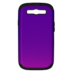 Halftone Background Pattern Purple Samsung Galaxy S Iii Hardshell Case (pc+silicone)