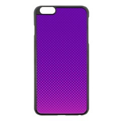 Halftone Background Pattern Purple Apple Iphone 6 Plus/6s Plus Black Enamel Case