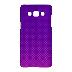 Halftone Background Pattern Purple Samsung Galaxy A5 Hardshell Case