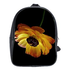 Ranunculus Yellow Orange Blossom School Bag (large) by Nexatart