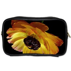 Ranunculus Yellow Orange Blossom Toiletries Bags 2 Side by Nexatart
