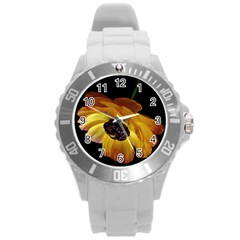 Ranunculus Yellow Orange Blossom Round Plastic Sport Watch (l) by Nexatart