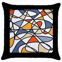 Abstract Background Abstract Throw Pillow Case (black) by Nexatart