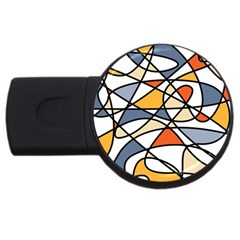 Abstract Background Abstract Usb Flash Drive Round (4 Gb) by Nexatart