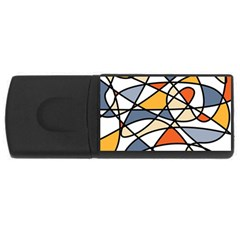 Abstract Background Abstract Rectangular Usb Flash Drive