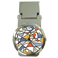 Abstract Background Abstract Money Clip Watches by Nexatart