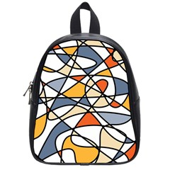 Abstract Background Abstract School Bag (small)