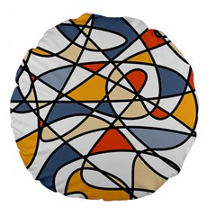 Abstract Background Abstract Large 18  Premium Flano Round Cushions by Nexatart