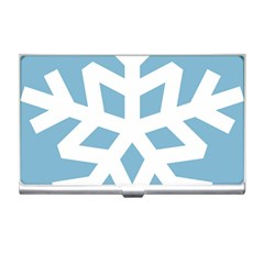 Snowflake Snow Flake White Winter Business Card Holders by Nexatart