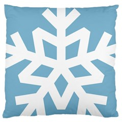 Snowflake Snow Flake White Winter Large Cushion Case (one Side) by Nexatart
