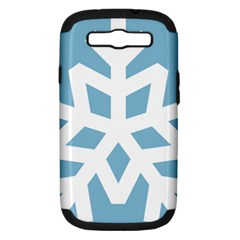Snowflake Snow Flake White Winter Samsung Galaxy S Iii Hardshell Case (pc+silicone)